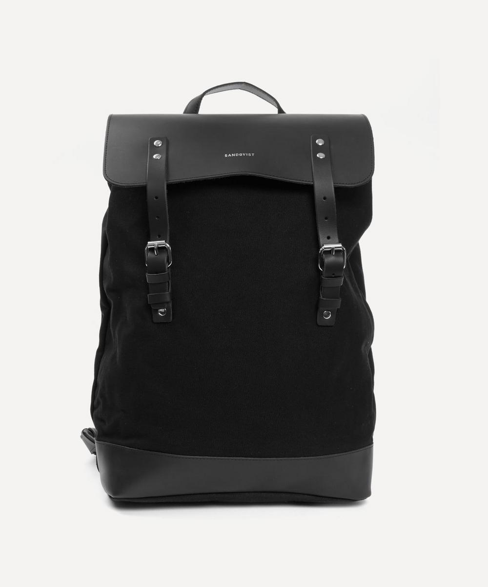 Sandqvist - Hege Leather Cotton Canvas Backpack