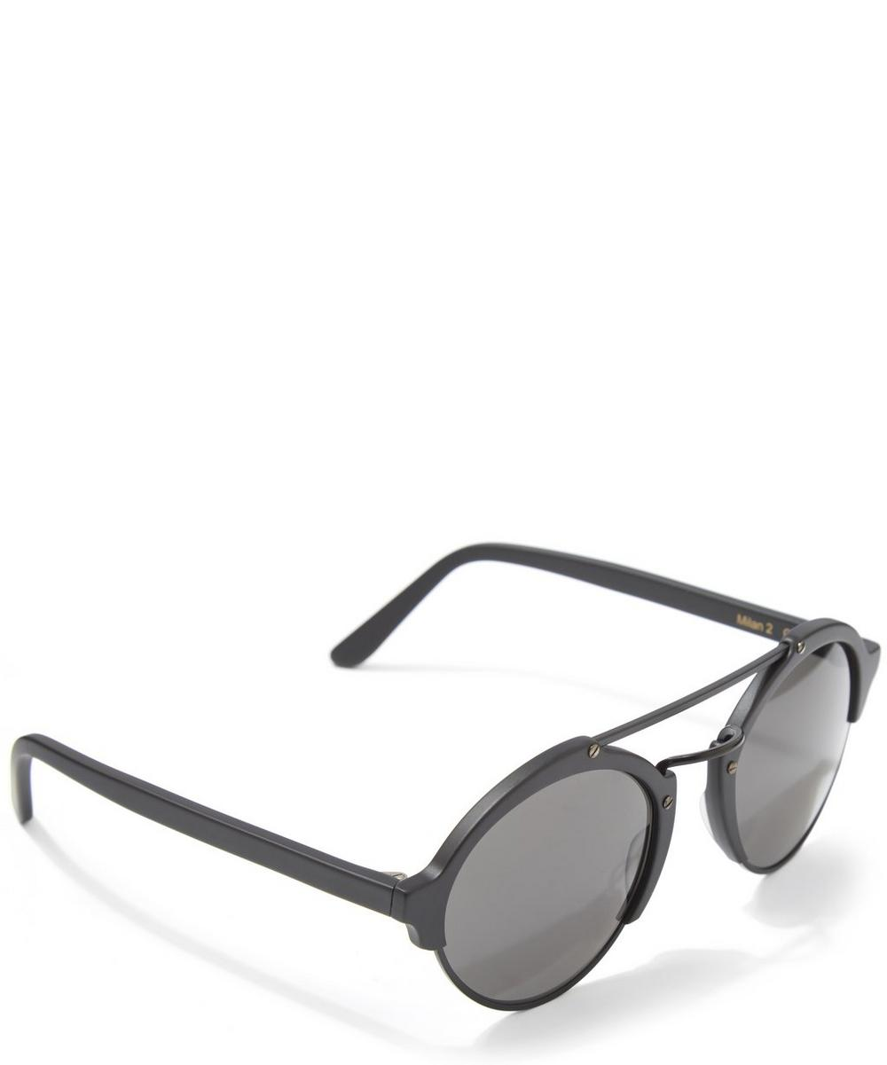 f5370036b9301 Milan II Matte Black Sunglasses   Liberty London