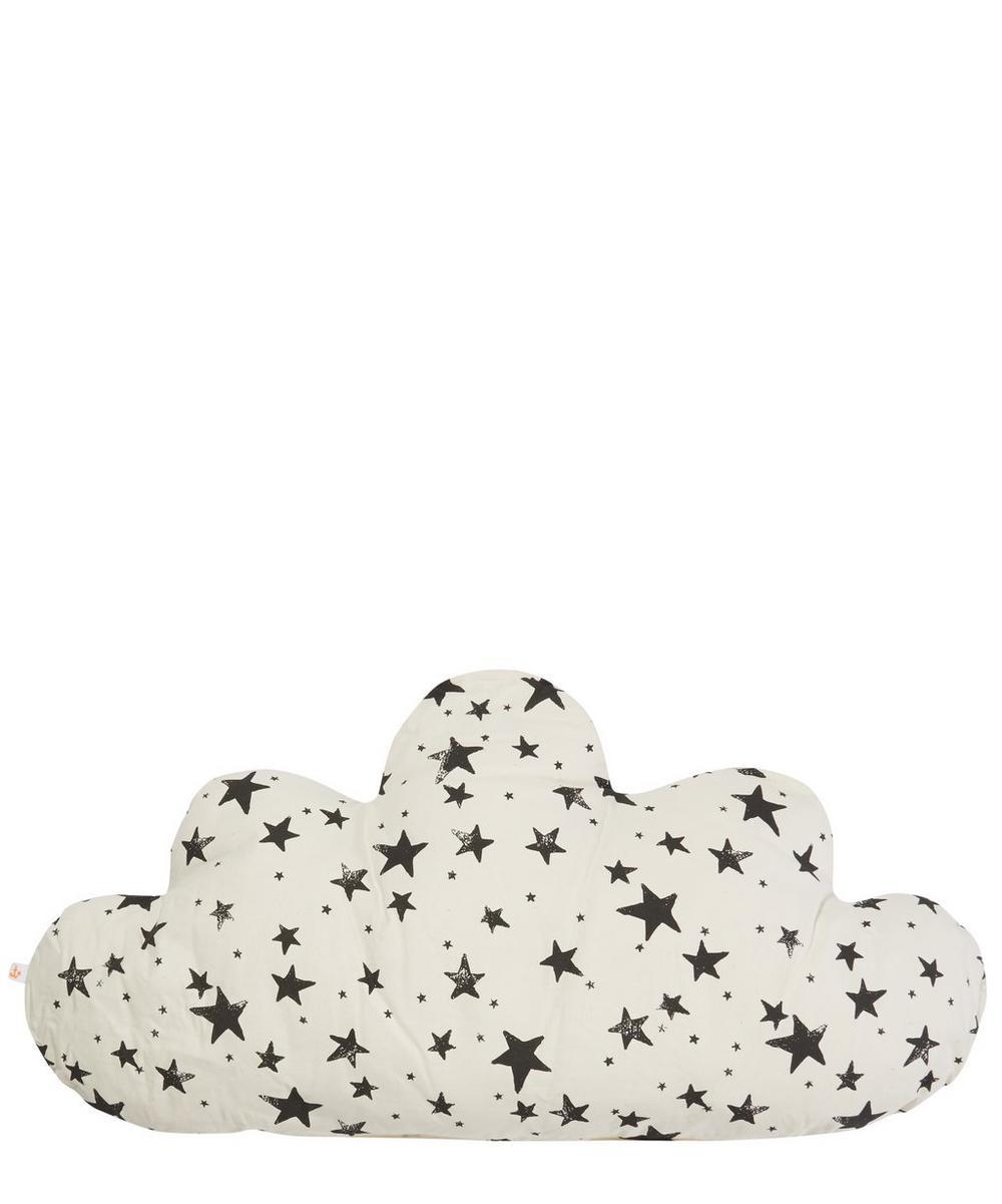 Large Cloud Star Print Pillow