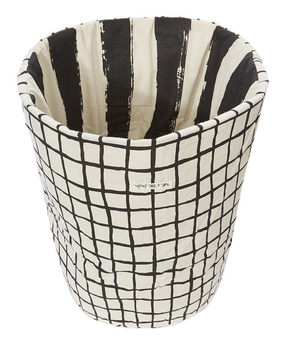 Medium Checked Stripe Storage Basket