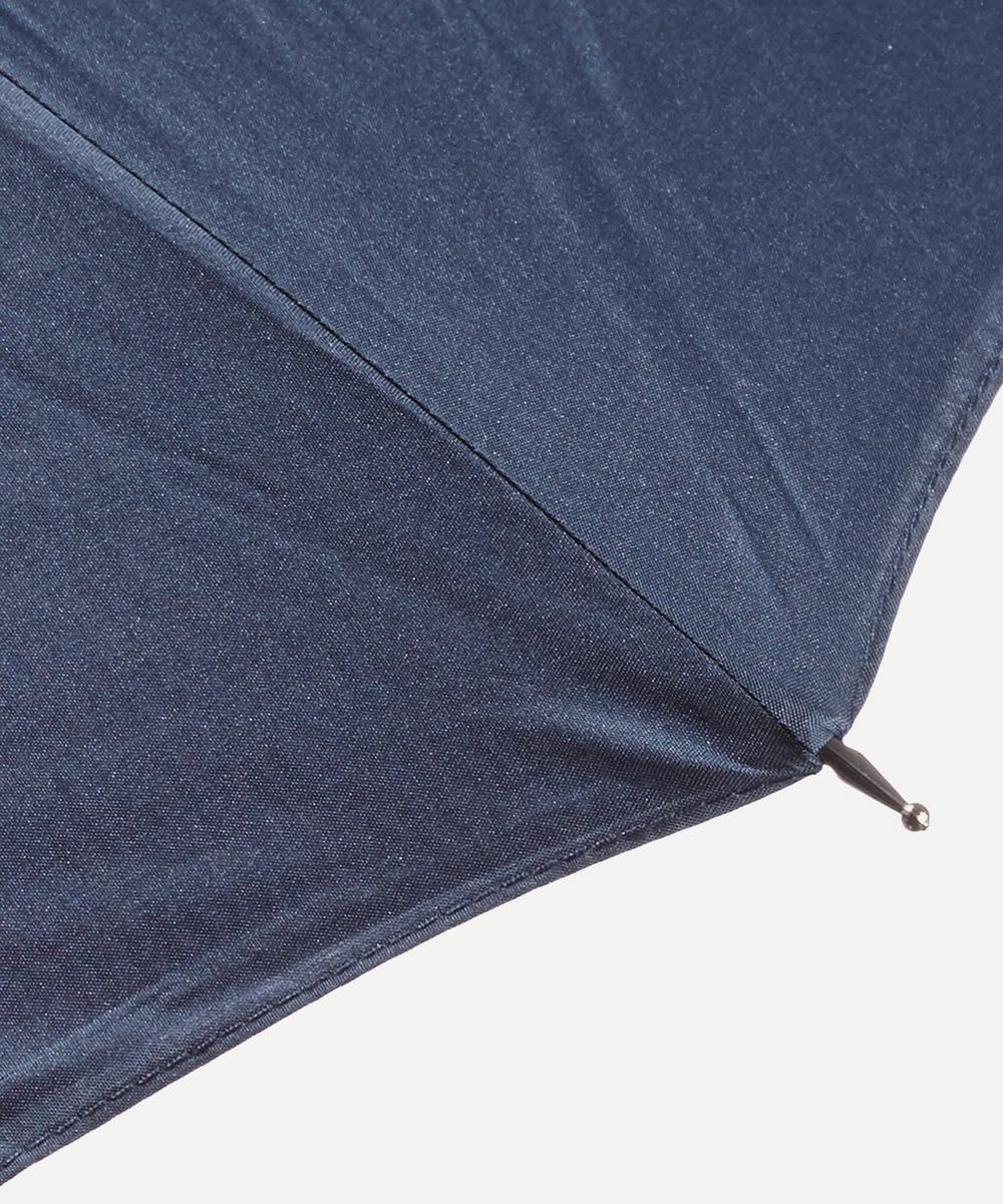 Classic Stripe Maple Wood Handle Umbrella