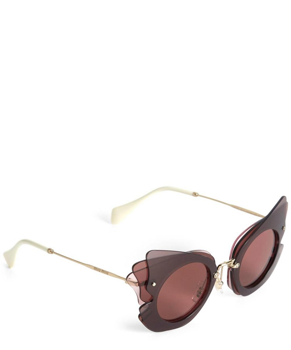 MU 02SS Oversized Butterfly Sunglasses
