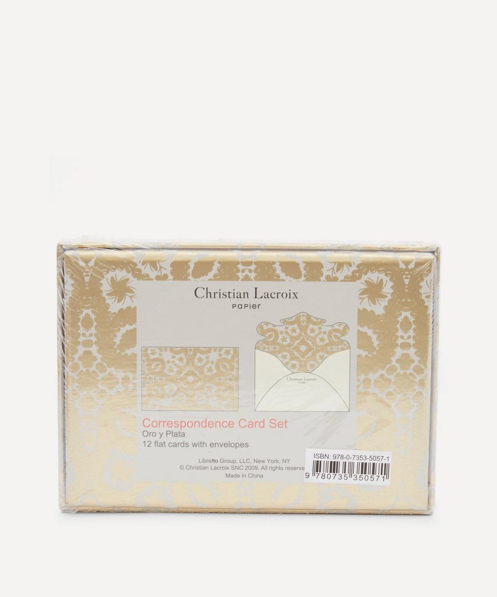 Oro y Plata Diecast Correspondence Notecard Set