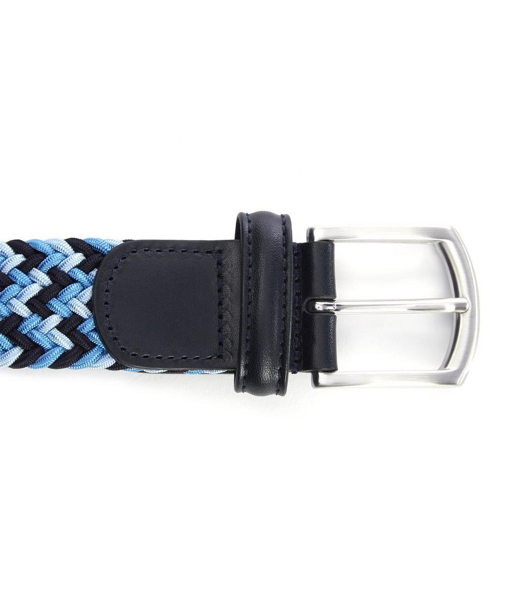 Tricolour Melange Zig Zag Woven Belt