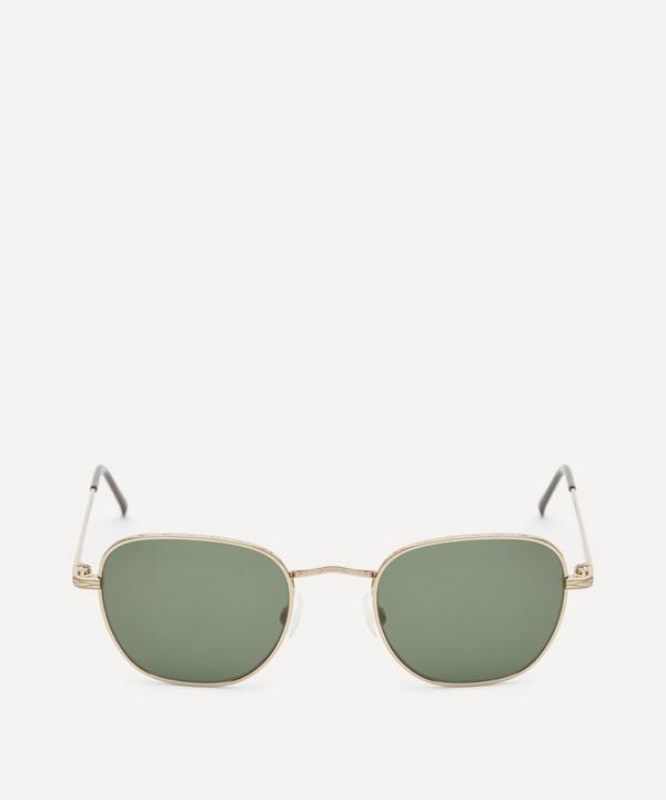 Moscot - Kibits Square Gold-Tone Metal Sunglasses