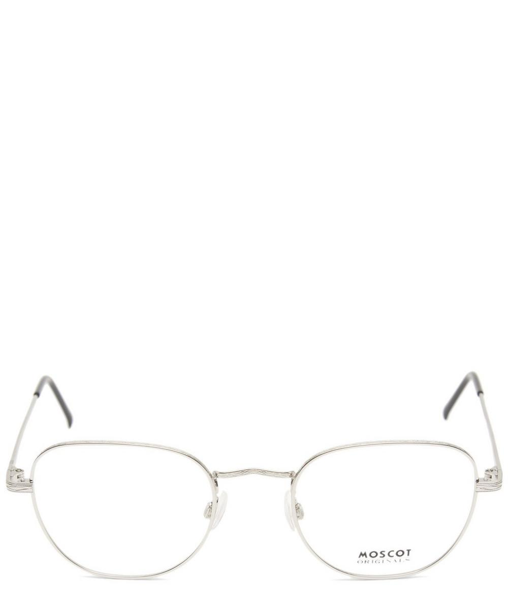 MOSCOT Zev Metal Optical Frames in Silver
