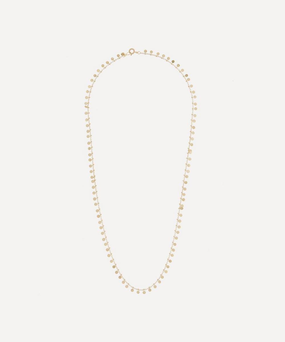 SIA TAYLOR GOLD EVEN DOTS NECKLACE