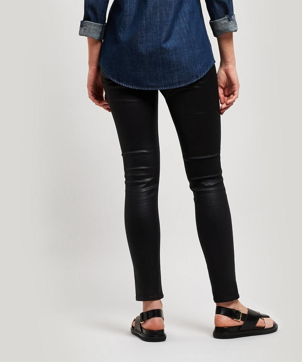Leatherette Legging Ankle Jeans