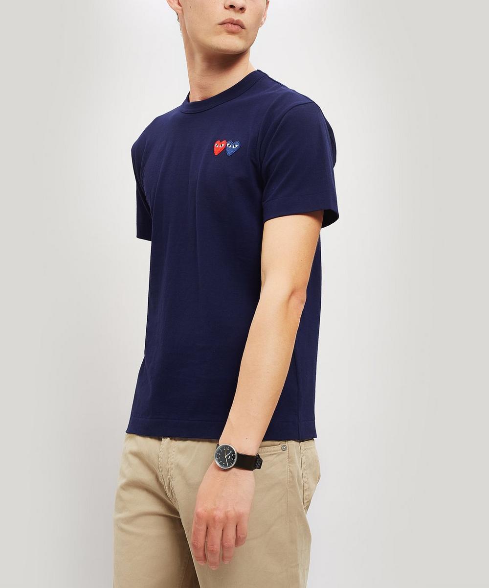 Comme des Garçons Play - Double Heart Badge T-Shirt