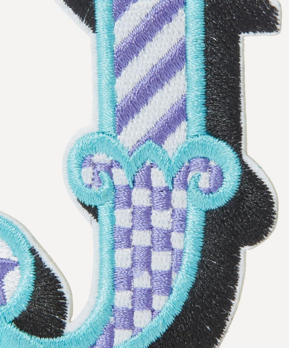 Embroidered Sticker Patch in J