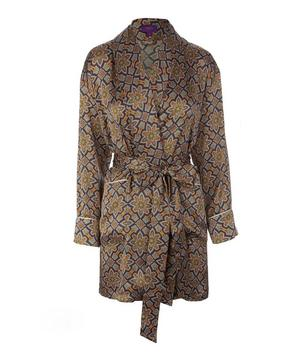 Indiana Short Silk Robe
