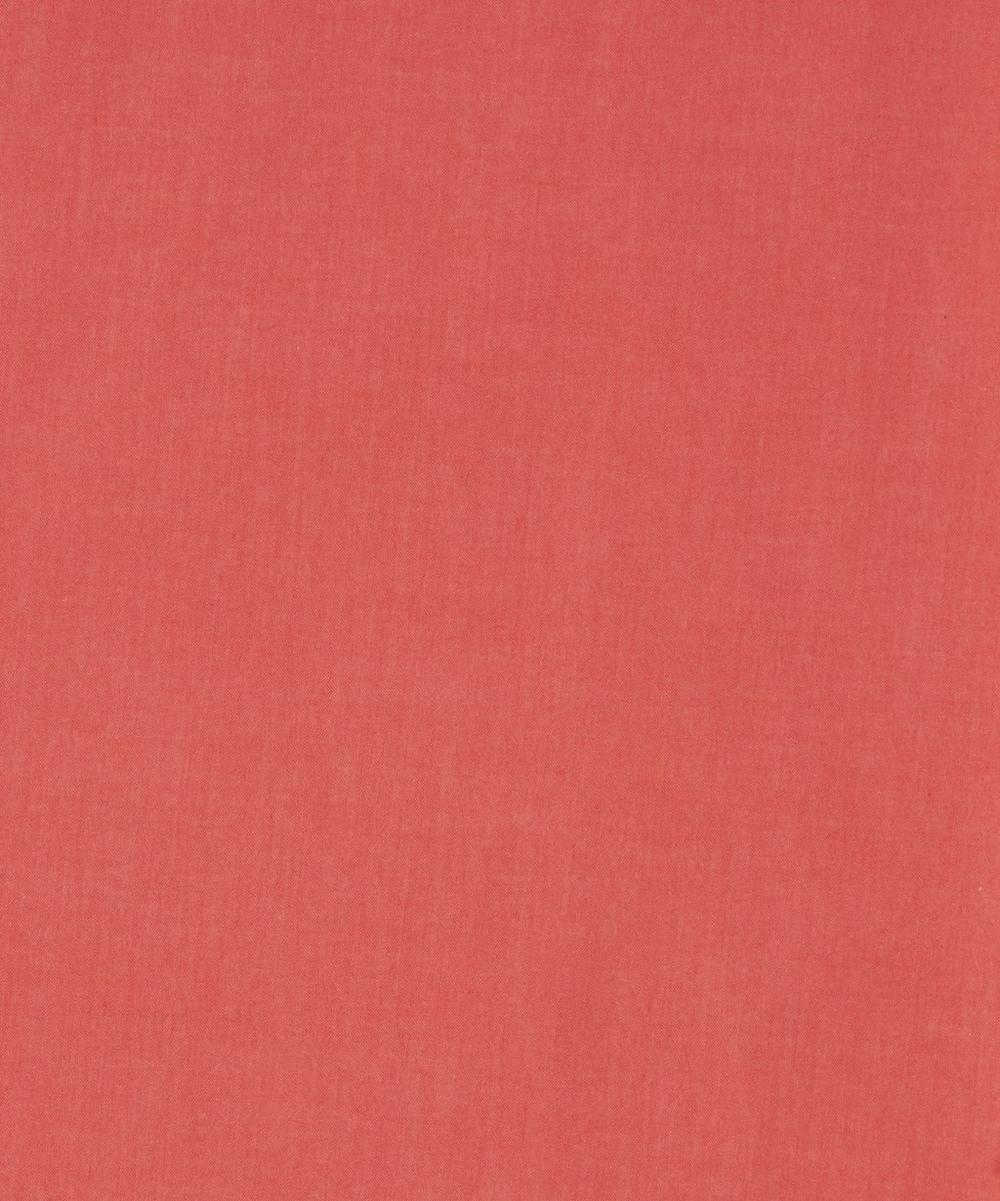 Orange/ Red Plain Tana Lawn Cotton