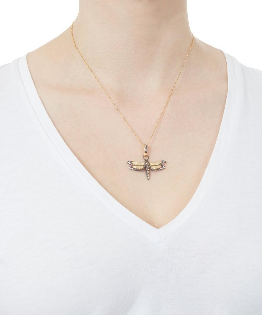 18ct Gold Mythology Diamond Dragonfly Pendant