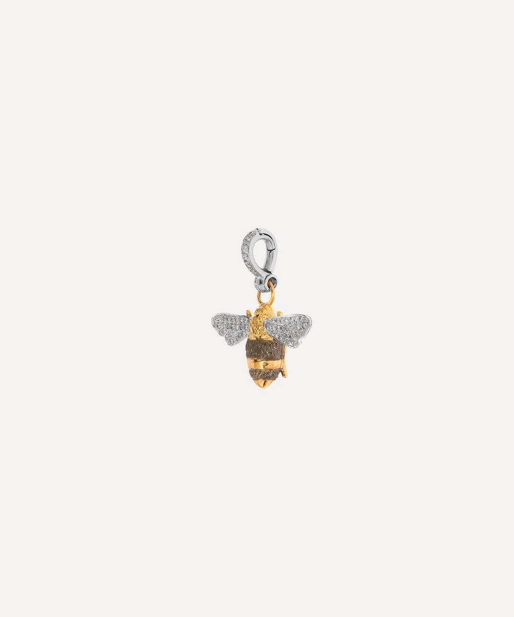 18ct Gold Mythology Diamond Bumblebee Pendant