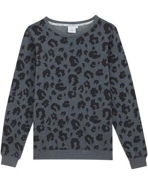 Adult Leopard Print Slouchy Sweater XS-XL