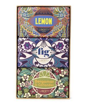 Trio Set of Bergamot, Lemon and Fig Soap