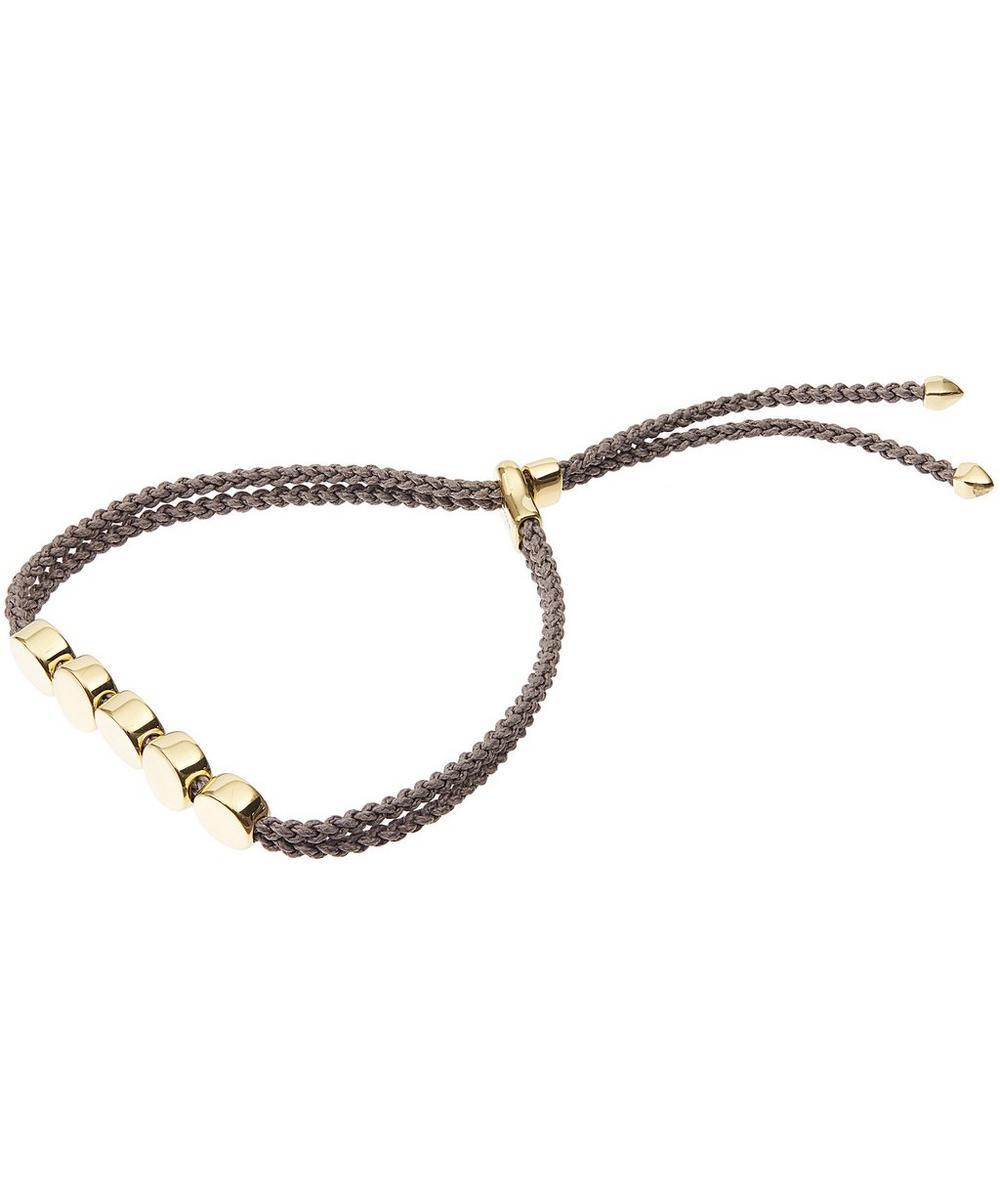 Gold Vermeil Linear Bead Friendship Bracelet