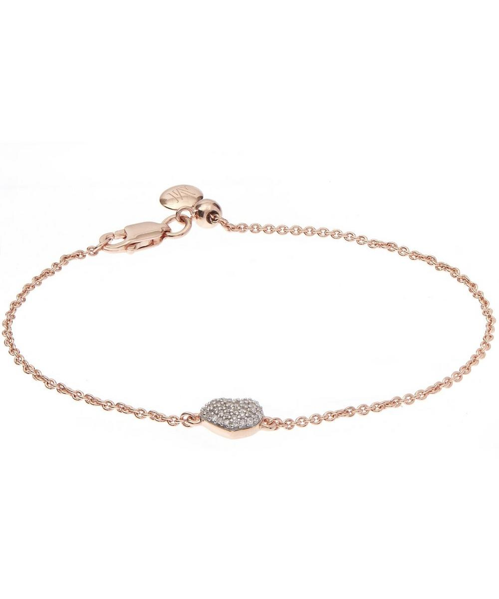 Nura Rose Gold Mini Heart Bracelet