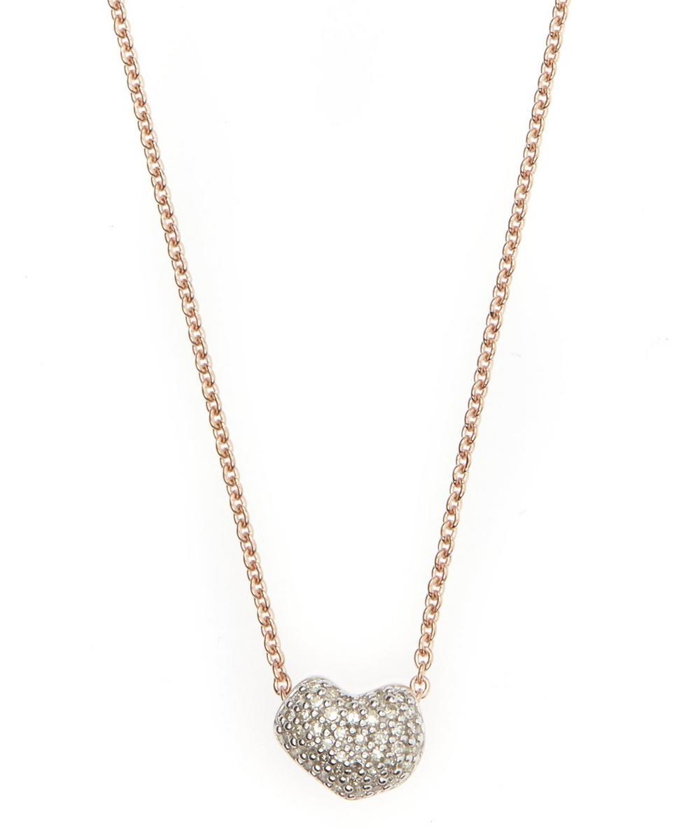 Rose Gold Vermeil Nura Mini Heart Diamond Necklace