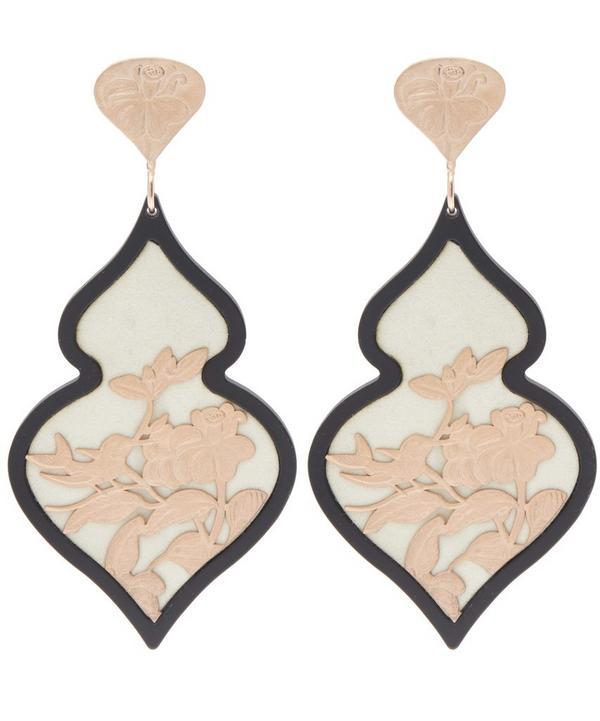 Rose Gold-Plated Giardino Velvet Earrings