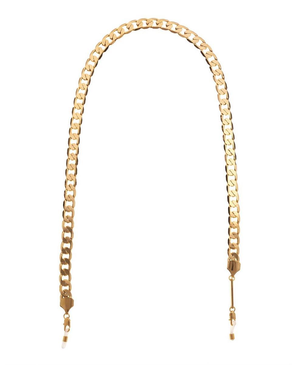 White Gold-Plated Eyefash Glasses Chain