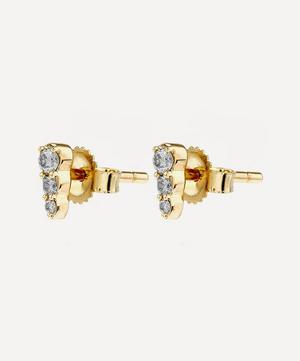 Gold Diamond Mini Interstellar Stud Earrings