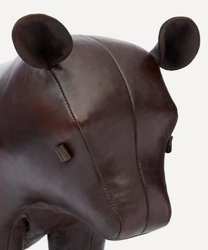 Medium Leather Brown Bear