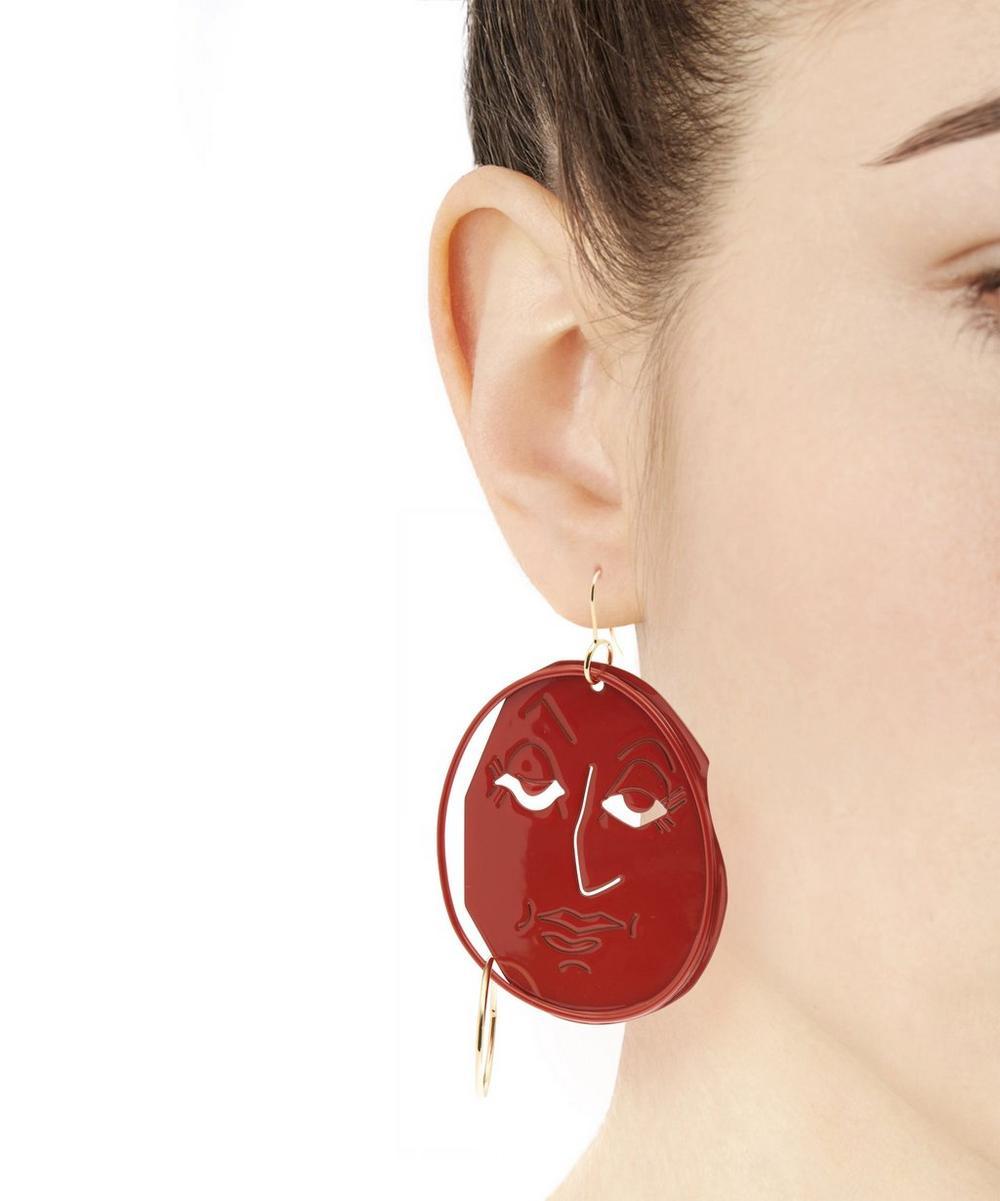 J.W.Anderson Moon Face earrings 5W1vS