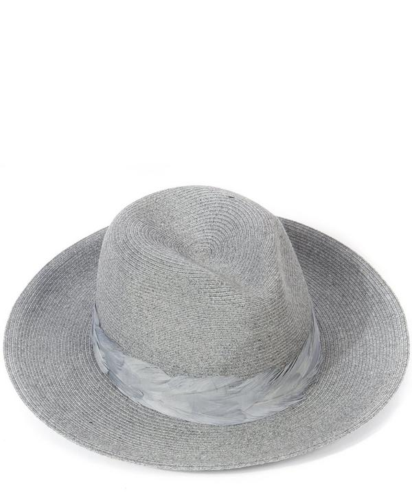 Courtney Feather Detail Trilby Hat