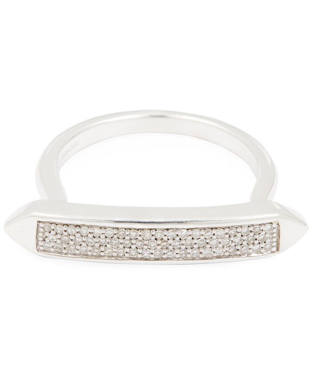 Silver Baja Skinny Diamond Ring