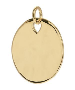 Gold Vermeil Havana Large Round Pendant