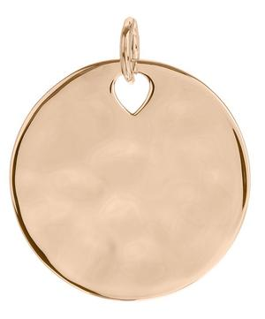 Rose Gold Vermeil Havana Large Round Pendant