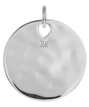 Silver Havana Large Round Pendant