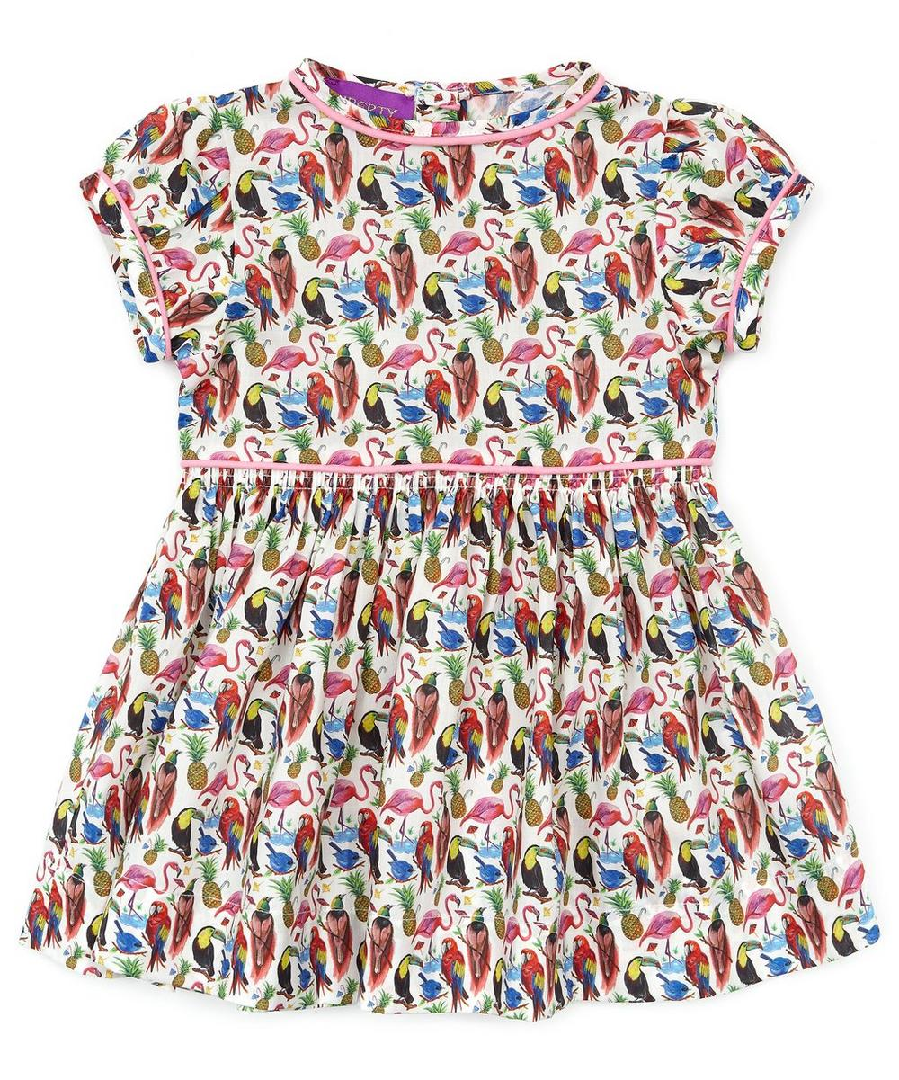 Birds of Paradise Short Sleeve Tana Lawn Cotton Dress 3-24 Months