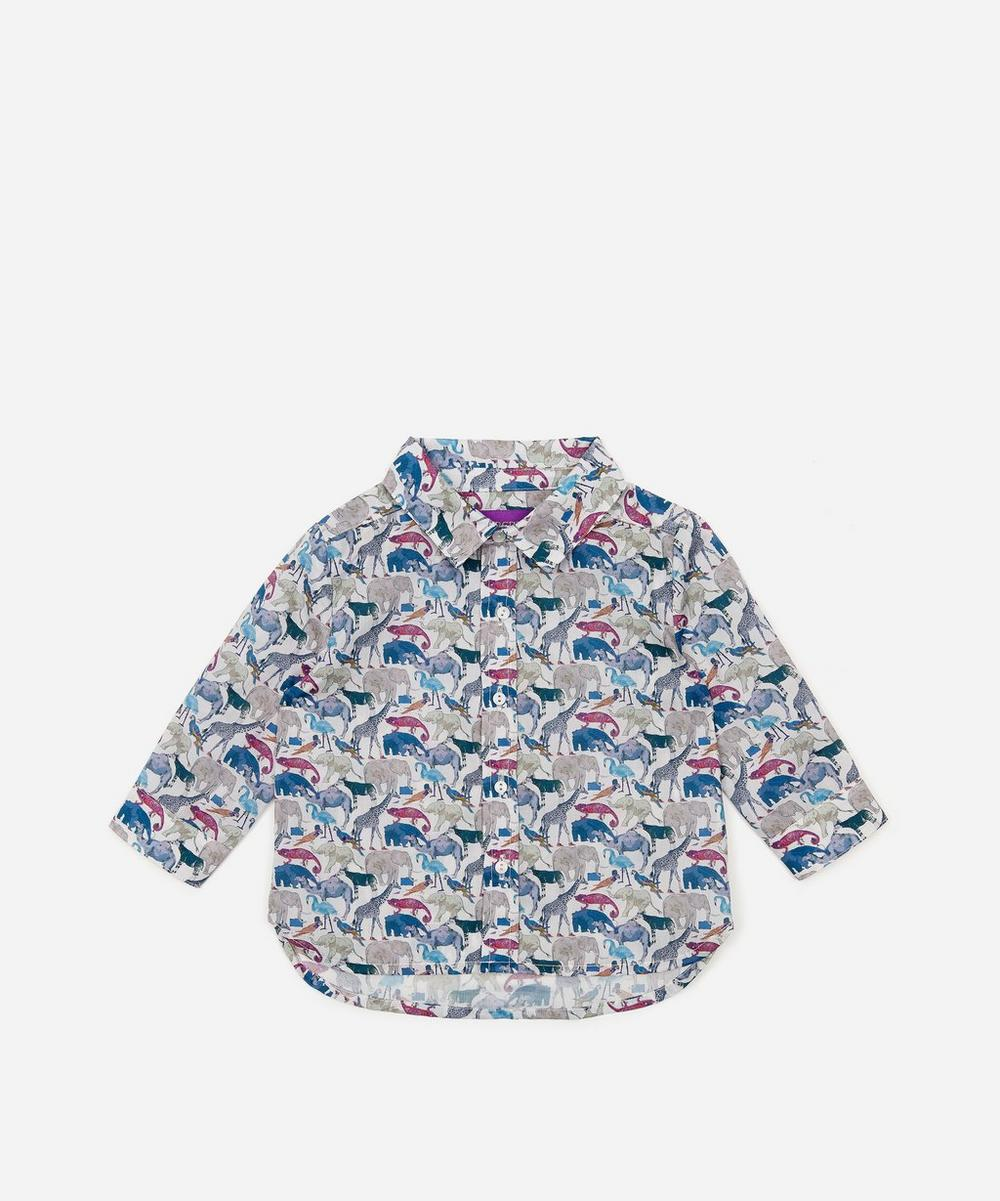 Liberty - Queue For The Zoo Long Sleeved Shirt 3-24 Months