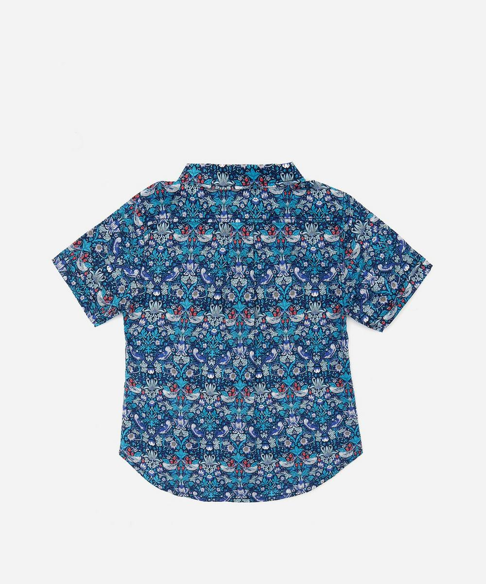 Strawberry Thief Short Sleeve Tana Lawn Cotton Shirt 3-24 Months