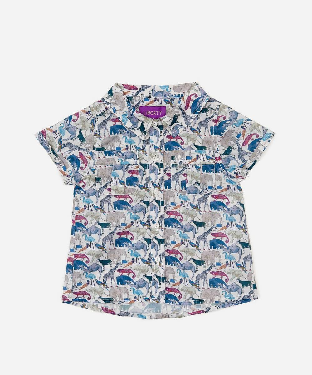 Queue For The Zoo Short Sleeve Tana Lawn™ Cotton Shirt 3-24 Months