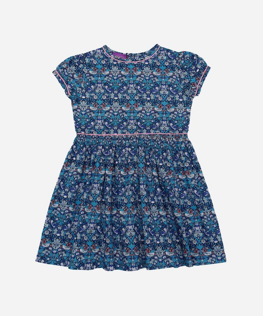 Liberty - Strawberry Thief Short Sleeved Dress 2-10 Years