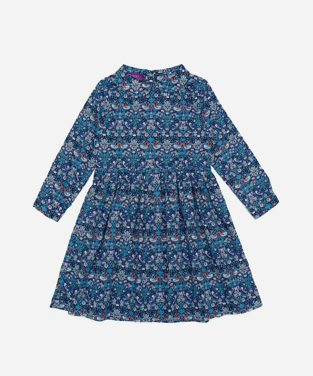 Strawberry Thief Long-Sleeve Tana Lawn Cotton Dress 2-10 Years