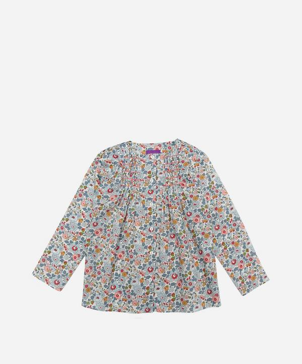Liberty - Betsy Smocked Blouse 2-6 Years