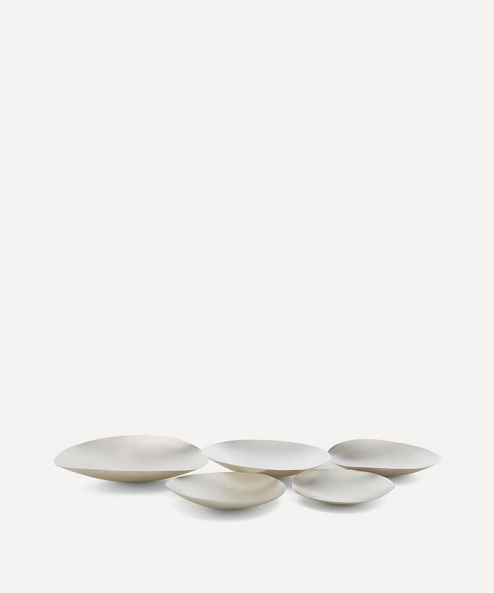Large Silver-Plated Form Bowl Set