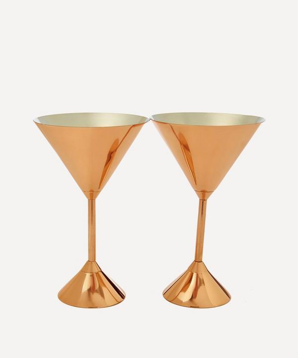 Plum Martini Glass Set