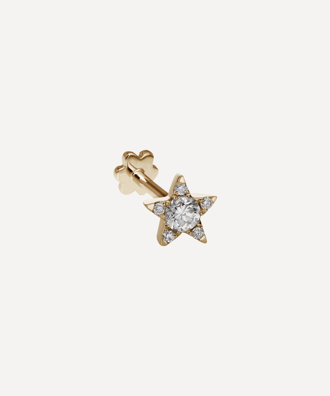 5c0abbfcb 5.5mm Diamond Star Threaded Stud Earring | Liberty London