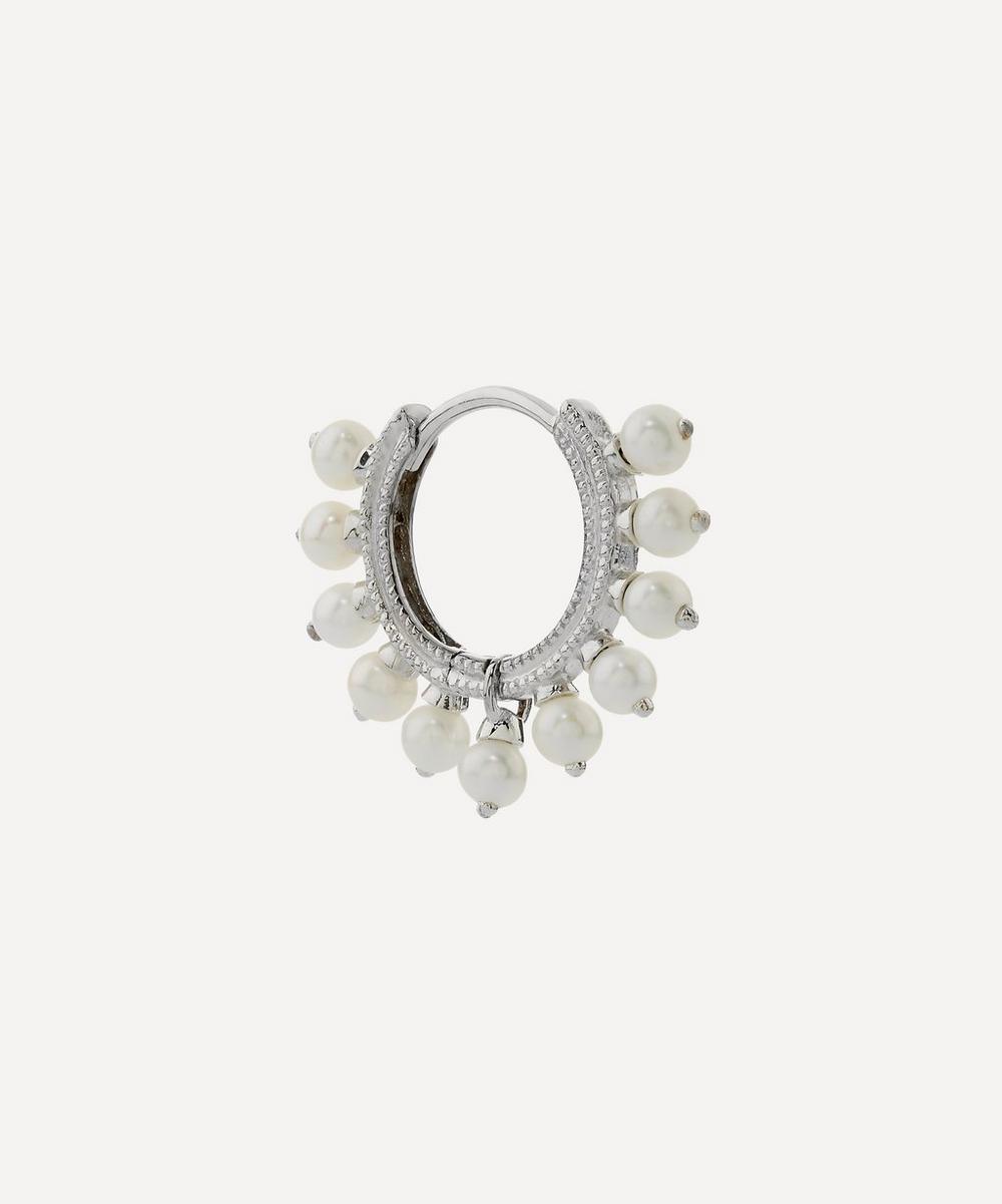 Maria Tash - 14ct 8mm Pearl Coronet Single Hoop Earring