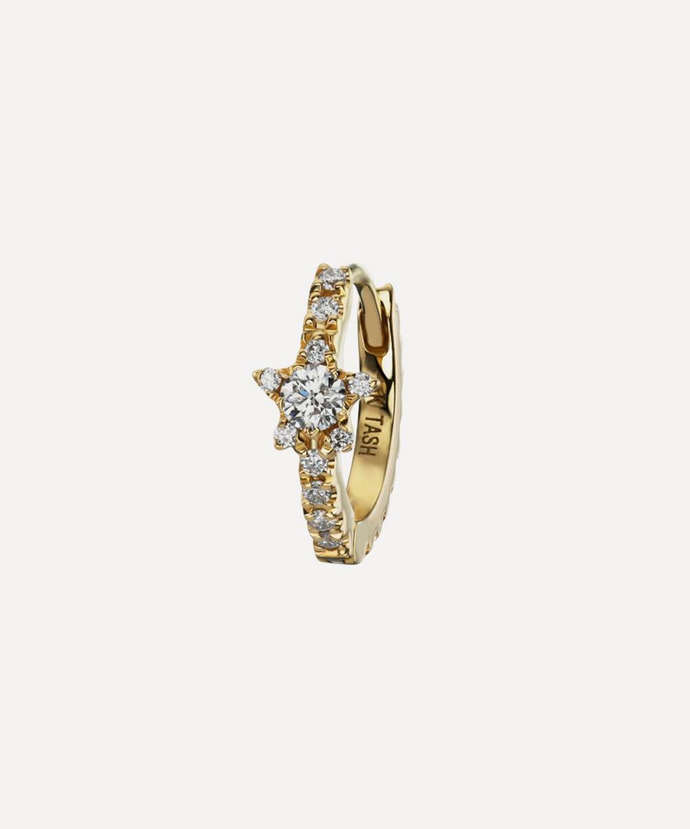 Maria Tash - 8mm Diamond Star Eternity Hoop Earring