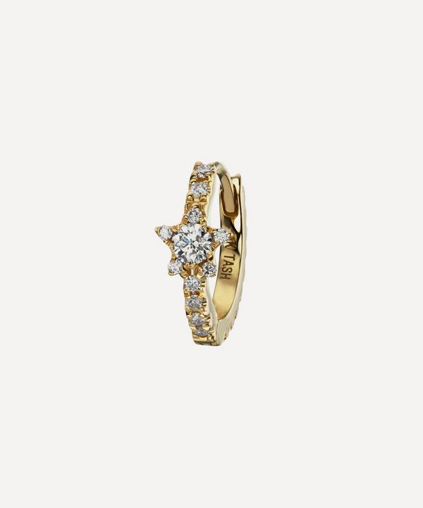 Maria Tash - 18ct 8mm Diamond Star Eternity Single Hoop Earring