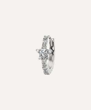 "5/16"" Diamond Star Eternity Hoop Earring"