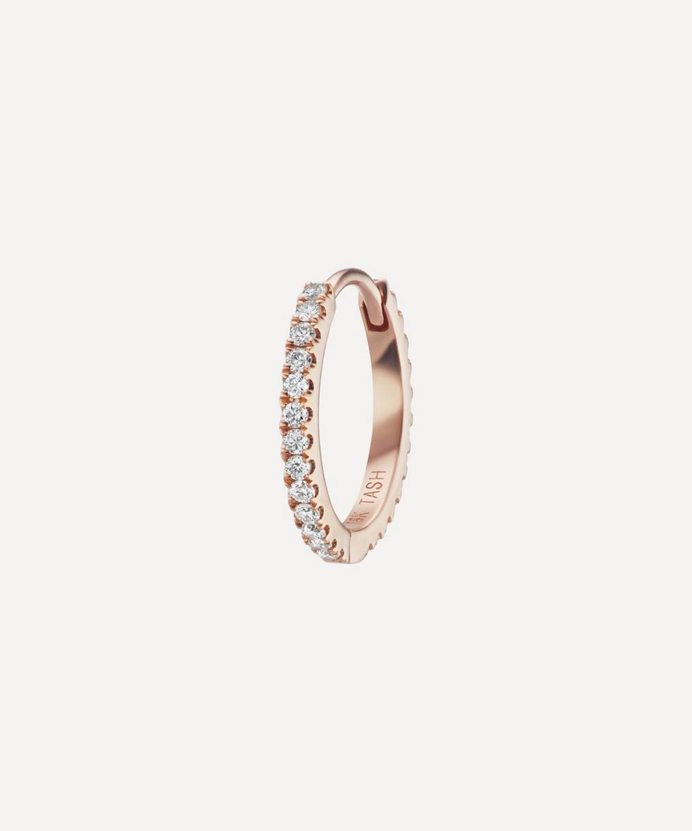 Maria Tash - 18ct 9.5mm Diamond Eternity Single Hoop Earring