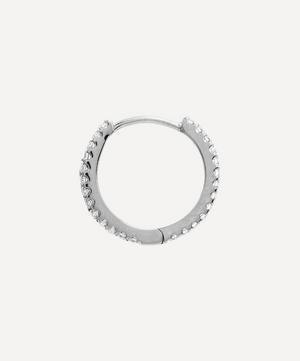 "3/8"" Diamond Eternity Hoop Earring"