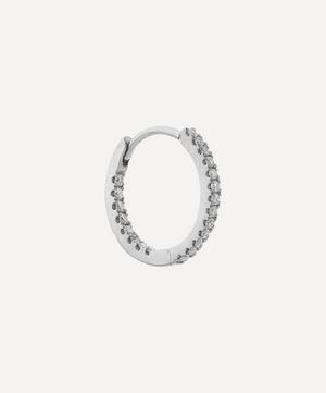 "3/8"" Diamond Front-Facing Eternity Hoop Earring"